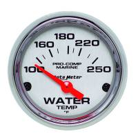 Analog Gauges - Water Temperature Gauges - Auto Meter - Auto Meter 2-1/16 Water Temp Gauge 100-250F P/C Marine