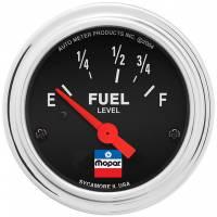 Analog Gauges - Fuel Level Gauges - Auto Meter - Auto Meter 2-1/16 Fuel Level Gauge Mopar Logo Series