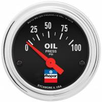 Analog Gauges - Oil Pressure Gauges - Auto Meter - Auto Meter 2-1/16 Oil Pressure Gauge Mopar Logo Series