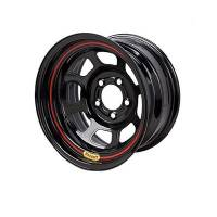 "Bassett Wheels - Bassett D-Hole Lightweight Wheels - Bassett Racing Wheels - Bassett 15x7 4x4.25 4"" Back Spacing D-Hole Lite Black"