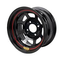 "Bassett Wheels - Bassett D-Hole Lightweight Wheels - Bassett Racing Wheels - Bassett 15x8 5x5 Black Spun 4.5"" BS"