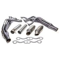 "Exhaust System - Beyea Custom Headers - Beyea Custom Headers SB Chevy DLM Header 1-5/8 x 1/-3/4 Crate 2-3/4"" Col"