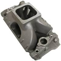 Intake Manifolds and Components - NEW - Intake Manifolds - NEW - BRODIX - BRODIX BB Chevy O/P Intake Manifold w/Dominator Flange