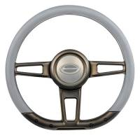 "Steering Components - NEW - Steering Wheels and Components - NEW - Billet Specialties - Billet Specialties Steering Wheel 14"" D-Shape Formula Bronze Matte"