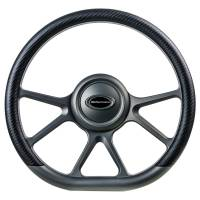 "Steering Components - NEW - Steering Wheels and Components - NEW - Billet Specialties - Billet Specialties Steering Wheel 14"" D-Shape Prism Gunmetal Matte"