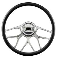 "Steering Components - NEW - Steering Wheels and Components - NEW - Billet Specialties - Billet Specialties Steering Wheel 1/2 Wrap 15.5"" BLVD 07"