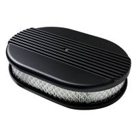 Air & Fuel System - Billet Specialties - Billet Specialties Air Cleaner Small Oval Ribbed Black