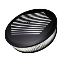 "Air & Fuel System - Billet Specialties - Billet Specialties Air Cleaner 14"" Round Ball Milled Black"