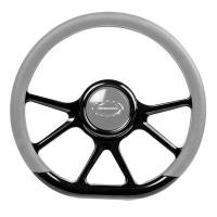 "Steering Components - NEW - Steering Wheels and Components - NEW - Billet Specialties - Billet Specialties Steering Wheel 14"" D-Shape Prism Black"
