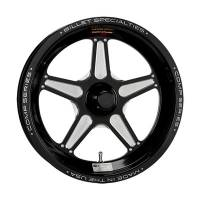 Billet Specialties Wheels - Billet Specialties Comp 5 Wheels - Billet Specialties - Billet Specialties Wheel/15 X 3.5 1- Piece Spindle Steering Ultra/Black Anodized