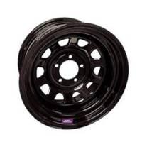 "Bart Wheels - Bart 15x8 5x4.5 3.75"" Back Spacing Black Supertrucker Wheel"
