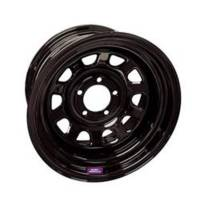 "Bart Wheels - Bart 15x8 5x5.5 3.75"" Back Spacing Black Supertrucker Wheel"