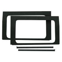 Sound and Heat Insulation - Sound Barriers - Design Engineering - Design Engineering Jeep JL 4 DR 18- Side Window Black 4-Piece