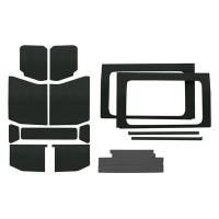 Sound and Heat Insulation - Sound Barriers - Design Engineering - Design Engineering Jeep JL 4 DR 18- HeadLiner Kit Black 13pc Com