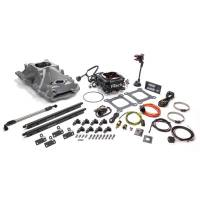 Air & Fuel System - Fitech Fuel Injection - FiTech Go Port SB Chevy 200-550hp EFI System w/Black TB