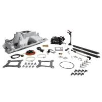 Air & Fuel System - Fitech Fuel Injection - FiTech Go Port SB Chevy 500-1050hp EFI System w/Black TB