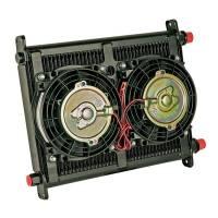 """Engine Components - Flex-A-Lite - Flex-A-Lite Engine Oil Cooler 40 Row 7/8-14 w/2 6.5"""" Fan s"""