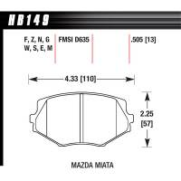 Hawk Performance - Hawk Brake Pads Front Mazda Miata HPS