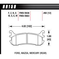Hawk Performance - Hawk Brake Pads Rear Mazda Miata DTC-30