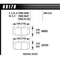 Brake System - Hawk Performance - Hawk Brake Pads Front Nissan 300ZX HPS