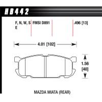 Brake System - Hawk Performance - Hawk Brake Pads Rear Mazda Miata HPS