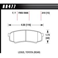 Hawk Performance - Hawk Brake Pads Rear Toyota Truck / SUV LTS