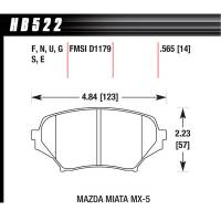 Brake System - Hawk Performance - Hawk Brake Pads Front Mazda Miata HP Plus
