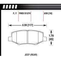 Brake System - Hawk Performance - Hawk Brake Pads Rear Jeep JK LTS