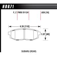 Hawk Performance - Hawk Brake Pads Rear Subaru Scion HPS