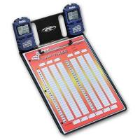 Timing & Scoring - Timing Clipboards - Longacre Racing Products - Longacre Clipboard w/ Two Watches Robic SC 606W