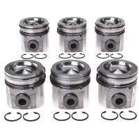 Pistons & Piston Rings - Piston and Ring Kits - Clevite Engine Parts - Clevite Piston Set w/Rings Dodge 5.9L Cummins 6 Pack