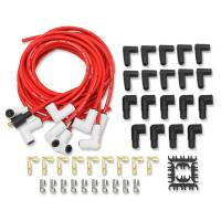 Spark Plug Wires - Mallory Pro Sidewinder Spark Plug Wire Sets - Mallory Ignition - Mallory Pro Sidewinder Plug Wire Set w/Ceramic Boots Red
