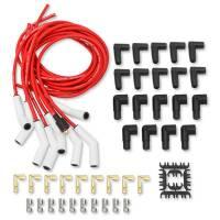 Mallory Pro Sidewinder Plug Wire Set w/Ceramic Boots Red