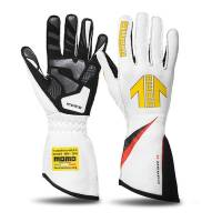 Safety Equipment - Momo - Momo Corsa R Racing Gloves - White - Medium