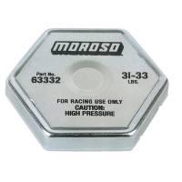 Sprint Car Radiators & Components - Radiator Caps & Hose - Moroso Performance Products - Moroso Radiator Cap 31-33 psi Hexagon