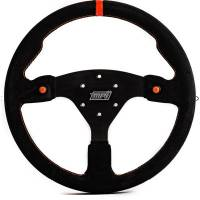 "Steering Components - MPI - MPI 14"" Wheel Black Suede 6-Bolt Aluminum"