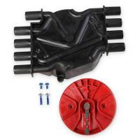 Distributor Components and Accessories - Distributor Cap and Rotor Kits - MSD - MSD Cap/Rotor Kit - GM V8 Vortec Distributor Black