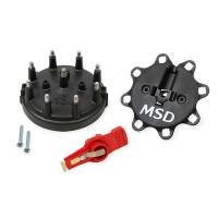 Distributor Components and Accessories - Distributor Cap and Rotor Kits - MSD - MSD Cap & Rotor Kit - 85-95 Ford - Black