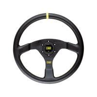 Steering Components - OMP Racing - OMP Velocita 350 Steering Wheel Black 350mm Diameter