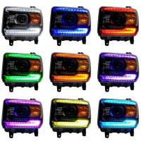 Oracle Lighting Technologies - Oracle Lighting Technologies 14- GMC Sierra LED Halo Headlight Kit Colorshift - Image 2