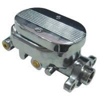 "Brake System - Racing Power - Racing Power Chrome Aluminum Master Cylinder Smooth 1-1/8"" Bore"
