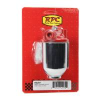 Fuel Filter - Canister Fuel Filters - Racing Power - Racing Power Small Chrome Single Port Fuel Filter