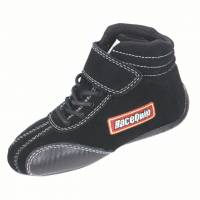 Kids Race Gear - Kids Racing Shoes - RaceQuip - RaceQuip Ankletop Shoe - Black - Kids Size 8