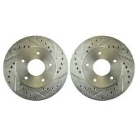 Brake System - Brake System - NEW - Right Stuff Detailing - Right Stuff Detailing Rear Rotor Drilled & Slotted Zinc Washed Pair