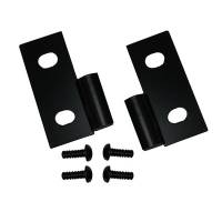 Body Panels and Components - NEW - Door Hinges - NEW - Rugged Ridge - Rugged Ridge Lower Door Hinge Brackets Black 76-06 Jeep CJ