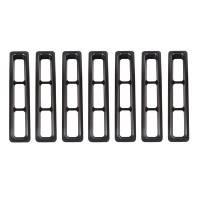 Body & Exterior - Rugged Ridge - Rugged Ridge Grille Inserts Black 97- 06 Jeep Wrangler TJ