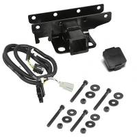 Trailer & Towing Accessories - Rugged Ridge - Rugged Ridge Receiver Hitch Kit Jeep Logo 07-18 Jeep Wrangler