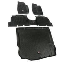 Cockpit & Interior - Rugged Ridge - Rugged Ridge Floor Liner Kit Black 4 Door 11-18 Jeep Wrangler