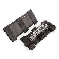 Interior & Cockpit - Grab Handles - Rugged Ridge - Rugged Ridge Paracord Grab Handles G ray/Black Pair