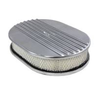 "Air & Fuel System - Specialty Products - Specialty Products Air Cleaner Kit 12"" X 2"" Oval Half Finned Top"